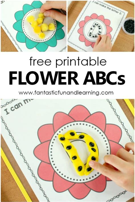 flower abc mat preschool alphabet printables fantastic 478 | Free printable Flower ABC Mats. Spring them alphabet activity for preschool and kindergarten freeprintable preschool spring