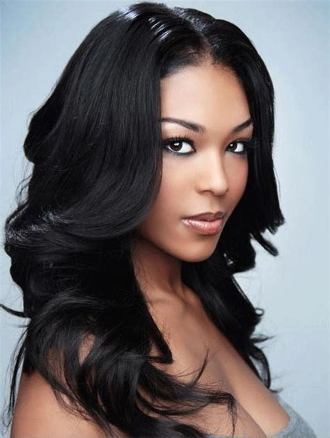 long hairstyles for black women with layer elegant