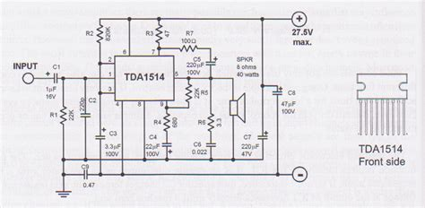 tda  watt audio amplifier circuit