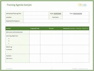 Simple Effective Resumes Free Training Agenda Template For Word Effective Agendas
