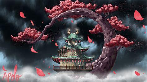 wano temple  ultra papel de parede hd plano de fundo