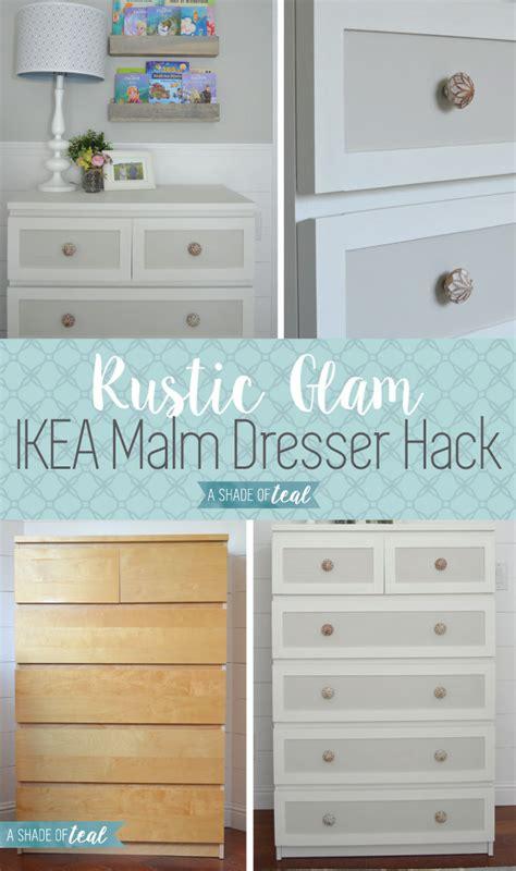 ikea malm dresser hack   rustic glam nursery