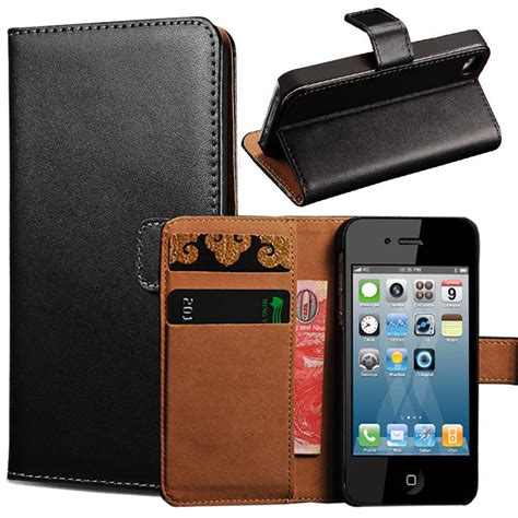 flip phone for iphone aliexpress buy 4s genuine leather wallet stand