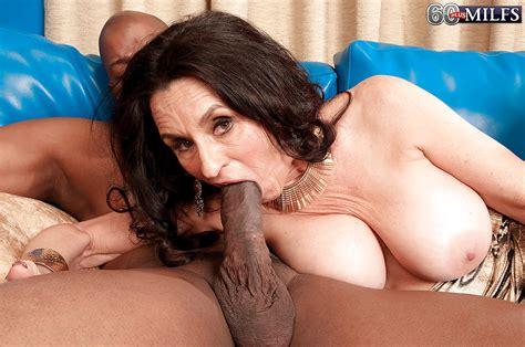 Dark Haired Granny Rita Daniels Giving Bbc Oral Sex Before
