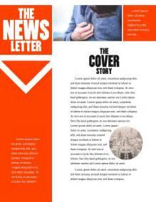 newsletter design free newsletter templates exles 10 free templates