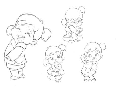 girl character sketches test  mercury filmworks