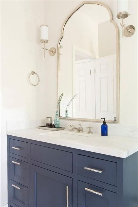 white  blue bathroom features  blue washstand adorned