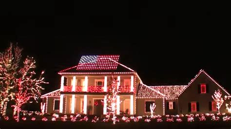 florida house lights up street with most patriotic light