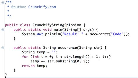 Java Given A Nonempty String Like Code Return A String