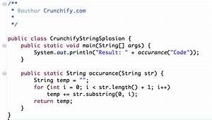 java given a non empty string like code return a string With java string template