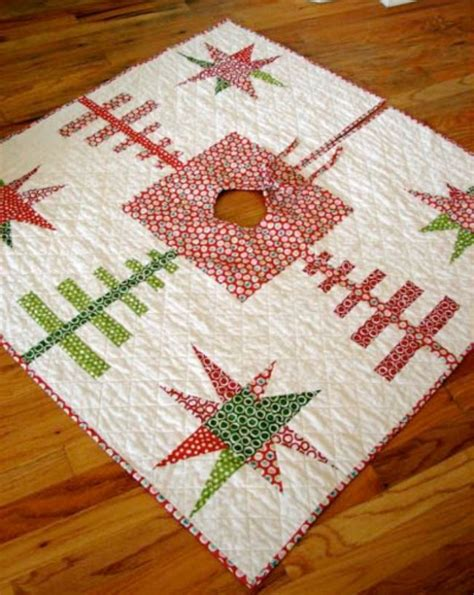 free pattern starry forest christmas tree skirt