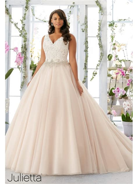 Mori Lee 3198 Plus Size Tulle Ball Gown Wedding Dress