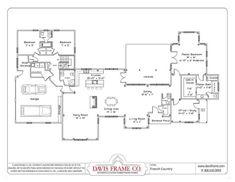 single story house plans  open floor plan cottage