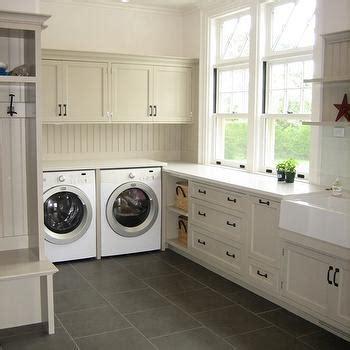 Beadboard Backsplash   Cottage   laundry room   Ken Gemes