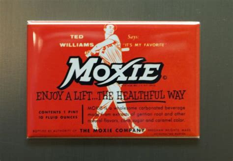 moxie ted williams refrigerator fridge magnet cola soda