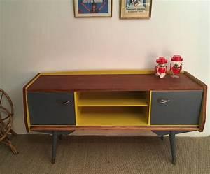 Meuble Tv Vintage : meuble tv vintage zilda meubles vintage restaur s lilibroc ~ Teatrodelosmanantiales.com Idées de Décoration
