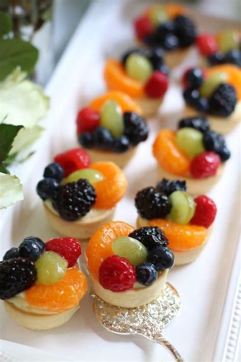 mini sugar cookie fruit tarts  vanilla bean custard