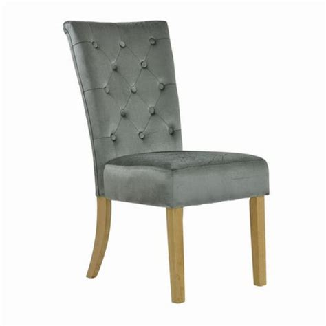 buy regent grey velvet dining chair from our dining chairs