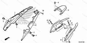 Honda Motorcycle 2012 Oem Parts Diagram For Seat Cowl