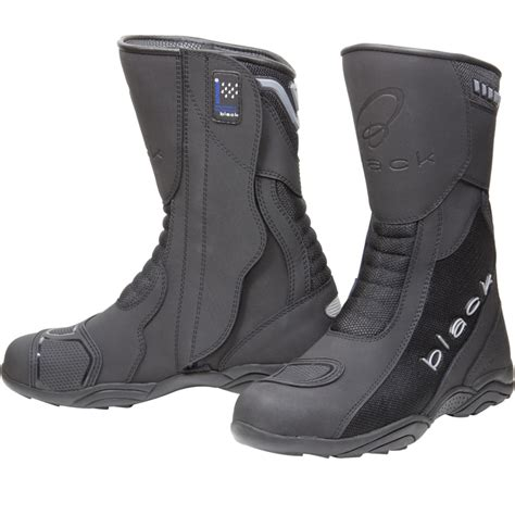 motorcycle touring boots black oxygen elite waterproof breathable touring