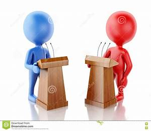 3d People Being Opponents In A Debate. Stock Illustration ...