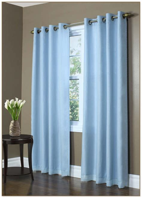 blue curtain panels light blue sheer curtains