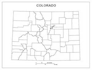 Colorado Counties Map Outline