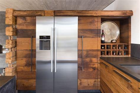 küche eiche rustikal wohnküche in eiche altholz