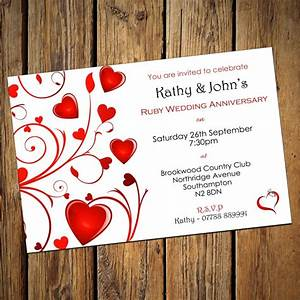 ruby wedding invitations sunshinebizsolutionscom With ruby wedding invitations templates free