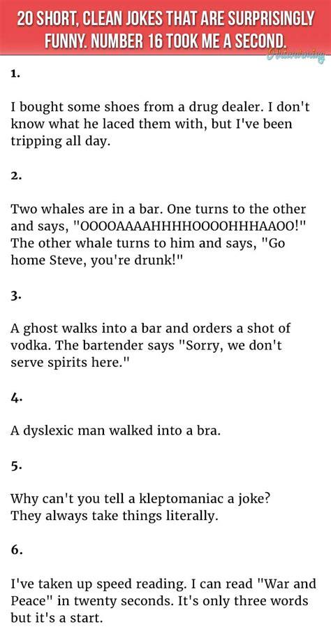 short clean jokes   surprisingly hilarious