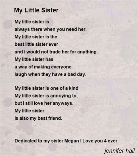 Little Sister Quotes Poems
