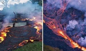 Hawaii Volcano  Shocking Aerial Footage Shows Massive Lava Flow
