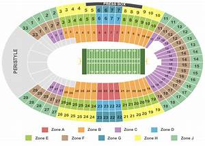 Coliseum Seating Chart Rams Los Angeles Memorial Coliseum Tickets Los Angeles Ca