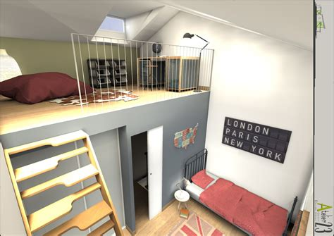 chambre avec lit mezzanine mezzanine chambre lit mezzanine enfant chambre avec