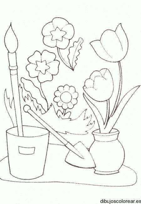 dibujo de jarrones con flores dibujos para colorear dibujos aplicaciones dibujos flores y