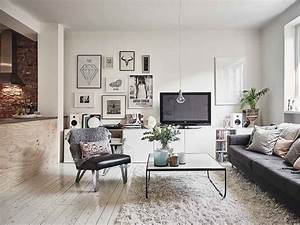 Scandinavian, Interior, Apartment, With, Mix, Of, Gray, Tones