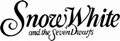 Snow Dwarfs Seven Disney Title Drawing Clip