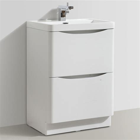mm designer white ash bathroom floor standing vanity