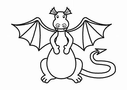 Dragon Clipart Coloring Dragons Pages Flying Children