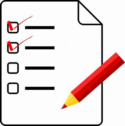 Checklist Clipart Check Duties Priorities Forms Lists