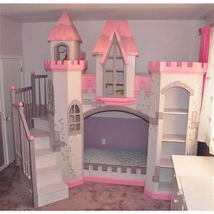 Wonderful little girls bedroom decors with cool castle for Wonderful decorations cool kids desk