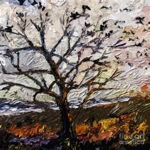 Mixed Media Tree Art Paintings