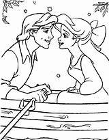 Coloring Pages Disney Princess Couple Ariel Printable Print Princesses Mermaid Cartoon Larry Boy Popular Getcolorings Getdrawings Azcoloring sketch template