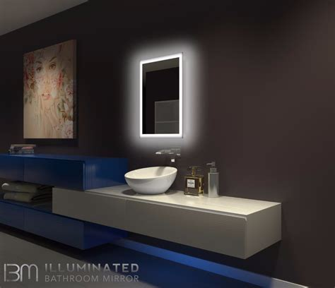 dimmable backlit mirror rectangle    ib mirror