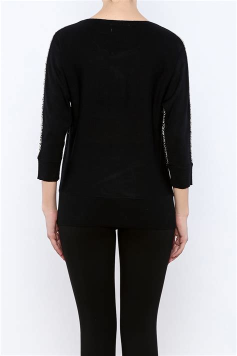 keren hart metallic black sweater from kentucky by