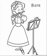 Flute Coloring Instrument Dora Flauta Printable Colouring Playing Desenhos Designlooter Musical Colorir Ideias Musica Ler Kleurplaten Muziek Template sketch template