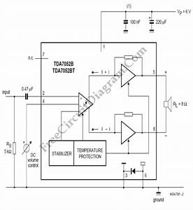 Audio Amplifier With Dc Volume Control  U2013 Circuit Wiring