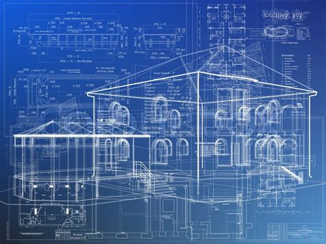 blueprint for houses blueprint architecture house plan background stock