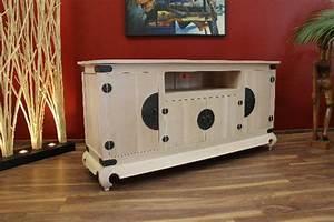 Tv Schrank Landhausstil : sideboard tv schrank massiv holz kolonial bronze wei beige gek lkt landhausstil ~ Indierocktalk.com Haus und Dekorationen