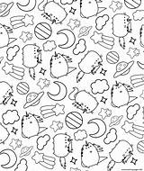 Pusheen Coloring Cat Pattern Printable Sleep Sheets Rocks Template Adult Colouring Kitten Stencil Discover sketch template